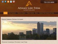 Adams Law Firm LLC: Denver Criminal Defense