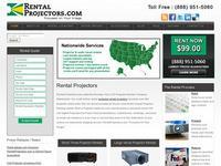 Renting a projector from RentalProjectors.com